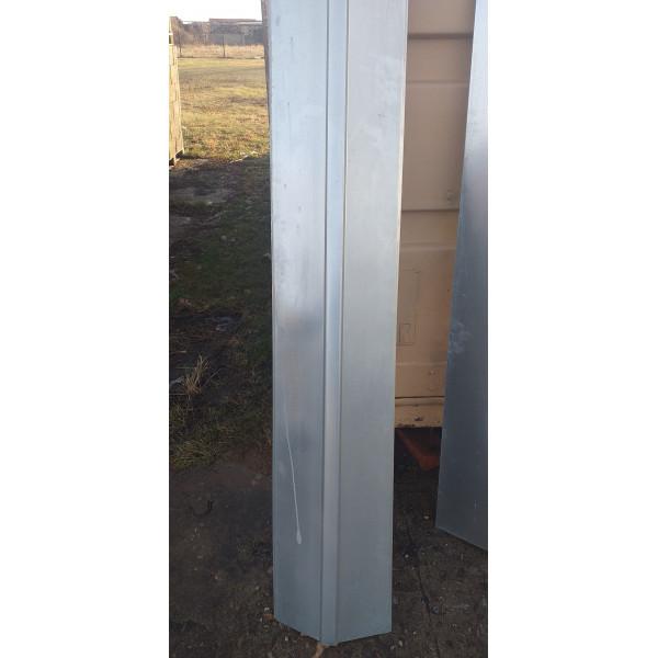 Коньковая планка прямая 145х145 мм, длина 2000 мм, Zn /оцинк./