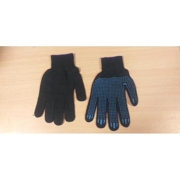 Перчатки с ПВХ черные 10кл