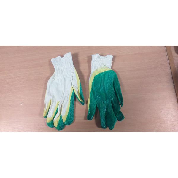 Перчатки хб 2-й облив (зеленые)